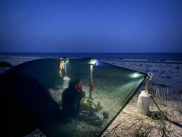 Джарылгач в палатке